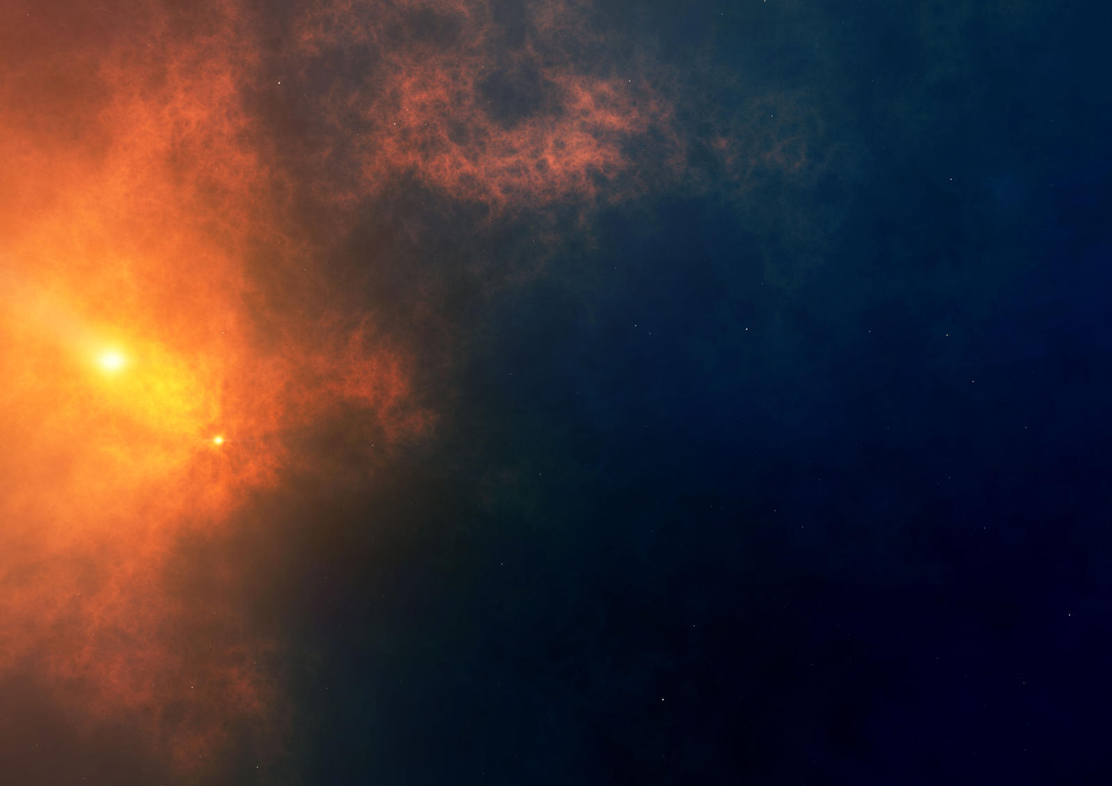 Stock Orange and blue Nebula by GrahamTG