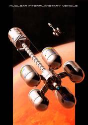 Nuclear Interplanetary Vehicle by GrahamTG