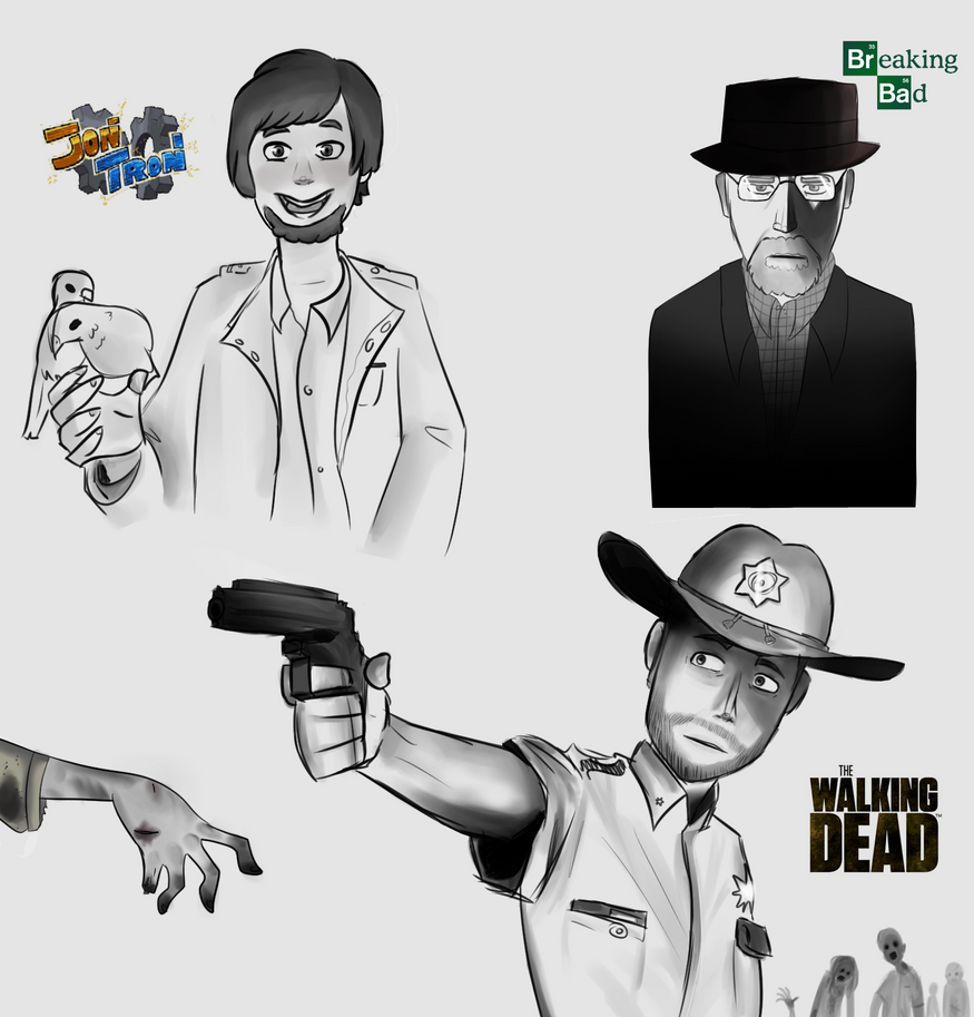 Is The Walking Dead A Sequel To Breaking Bad Youtube: Walking Dead,breaking Bad,jontron,Sketch By Chaotic