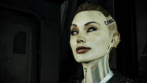 Mass Effect 3: Jack close up.