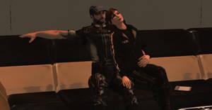 Mass Effect 3: Joker and Femshep Relaxing