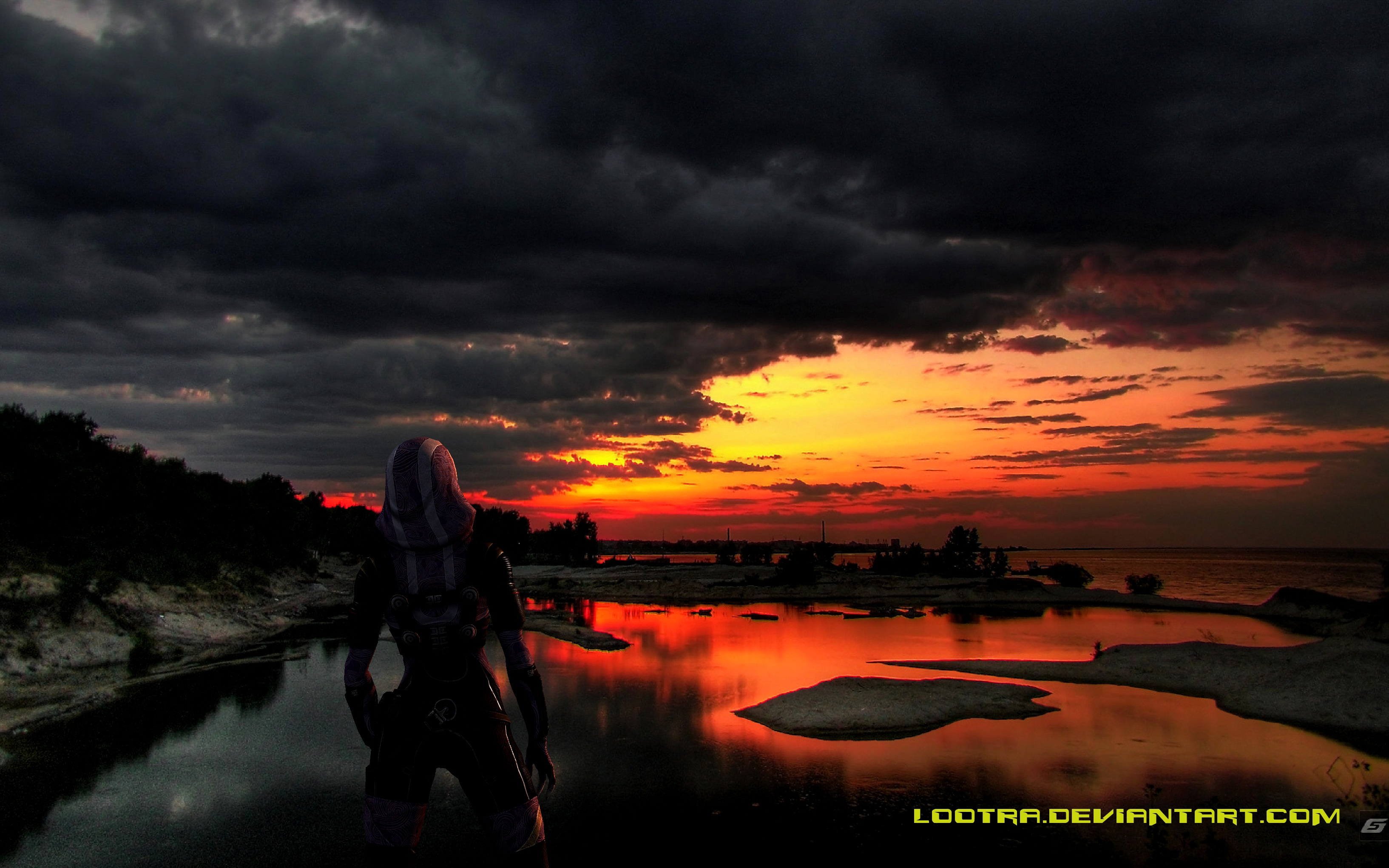ME3: A quiet moment with Tali by Lootra