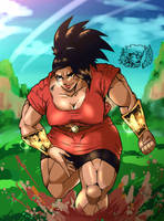 She's Buff (colored) by KBLOODSAW