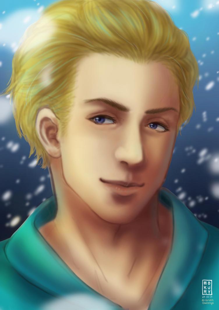 Male!Elsa - Airbrush Challenge by Mokury
