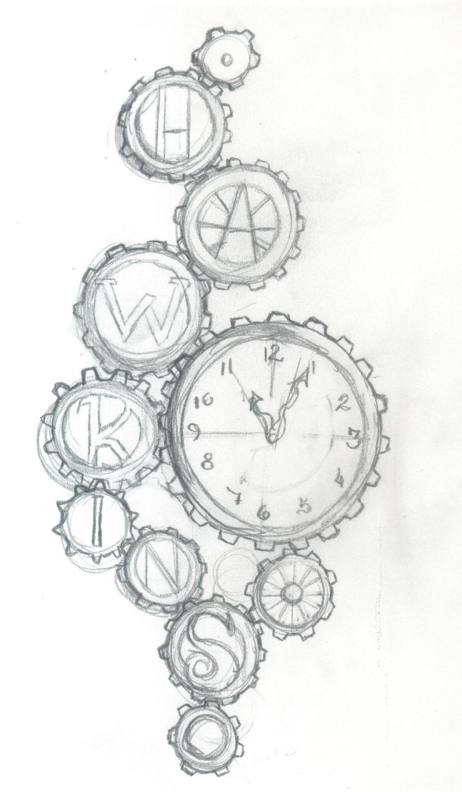 Rib Tattoo Sketch by LissyBear