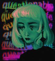 a little bit crazy art by ValhallaJo