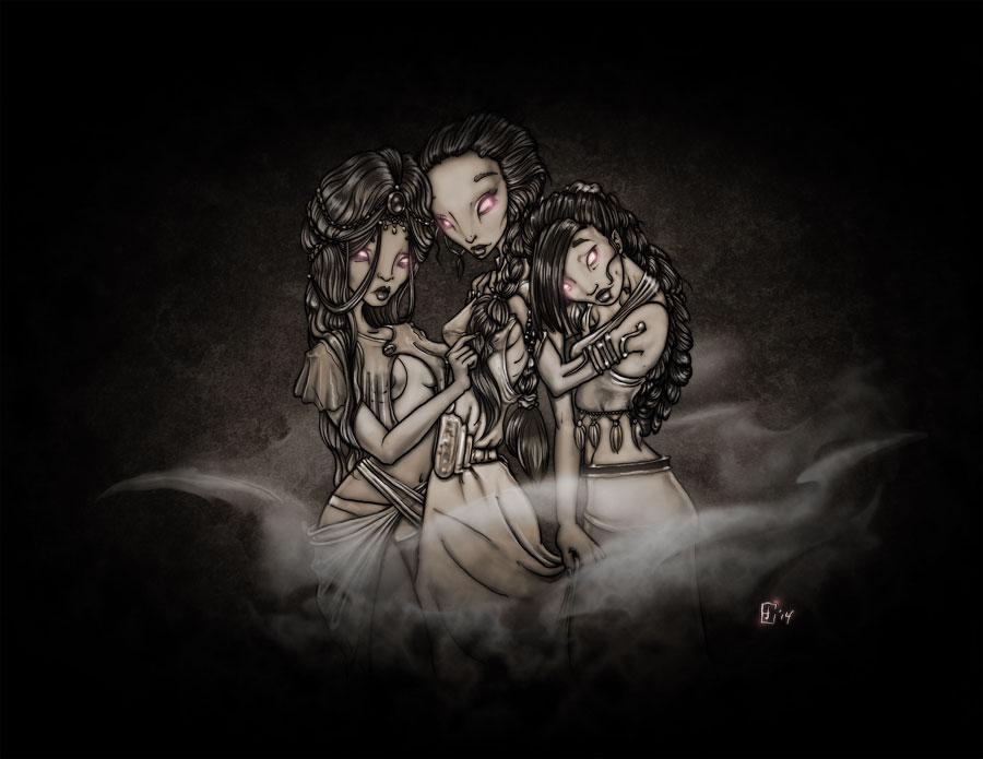 Brides of Dracula - sepia tone by pyromancy