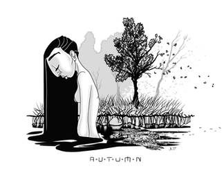Autumn Lady by pyromancy