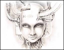Cyborg head by lareux