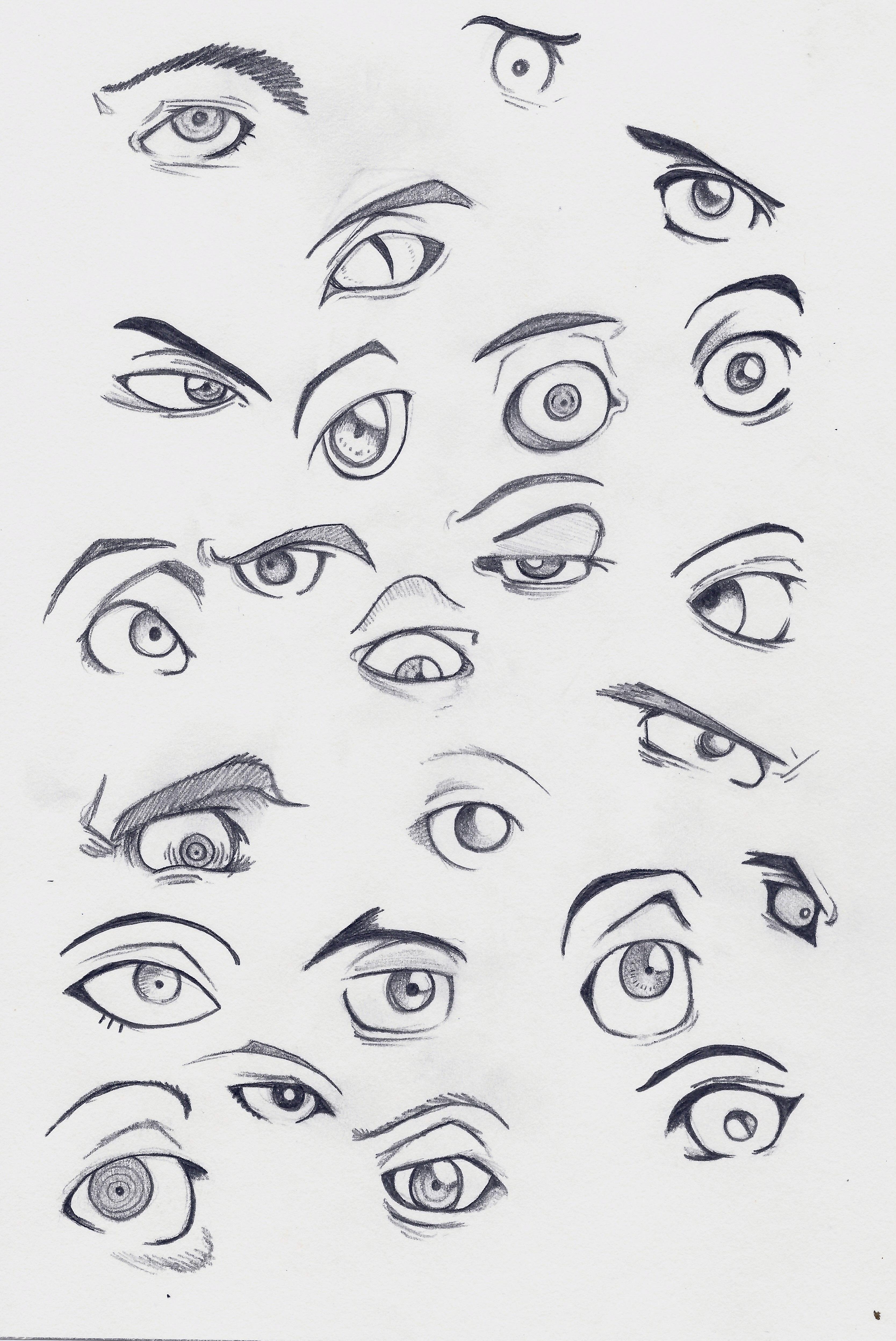 manga eye coloring pages - photo#42