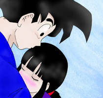 Goku and chichi by Asami0