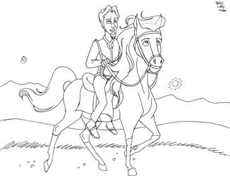 Tallis Rides PIP by unicorn-skydancer08