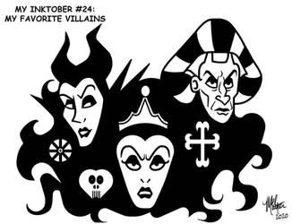 My Inktober 24 - My Favorite Villains