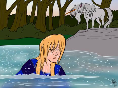 Swimming Princess [and Unicorn]