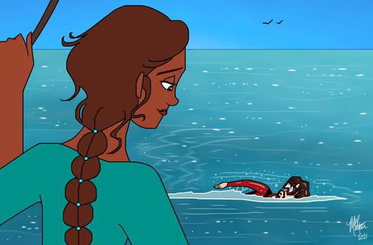 Mason Swimming in the Sea