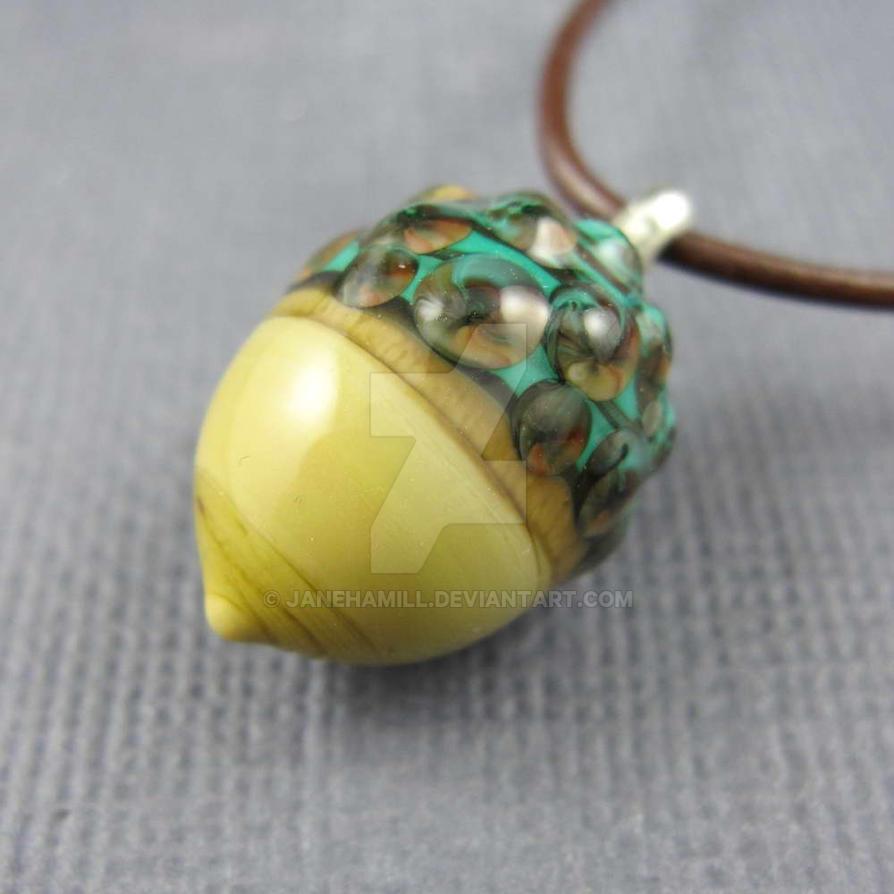 Acorn pendant by janehamill