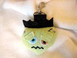 FRANKENSTEIN MONSTER Backpack Baddie Clip On by tacksidermia