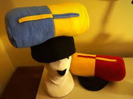 Dr Mario Pill Hats by tacksidermia