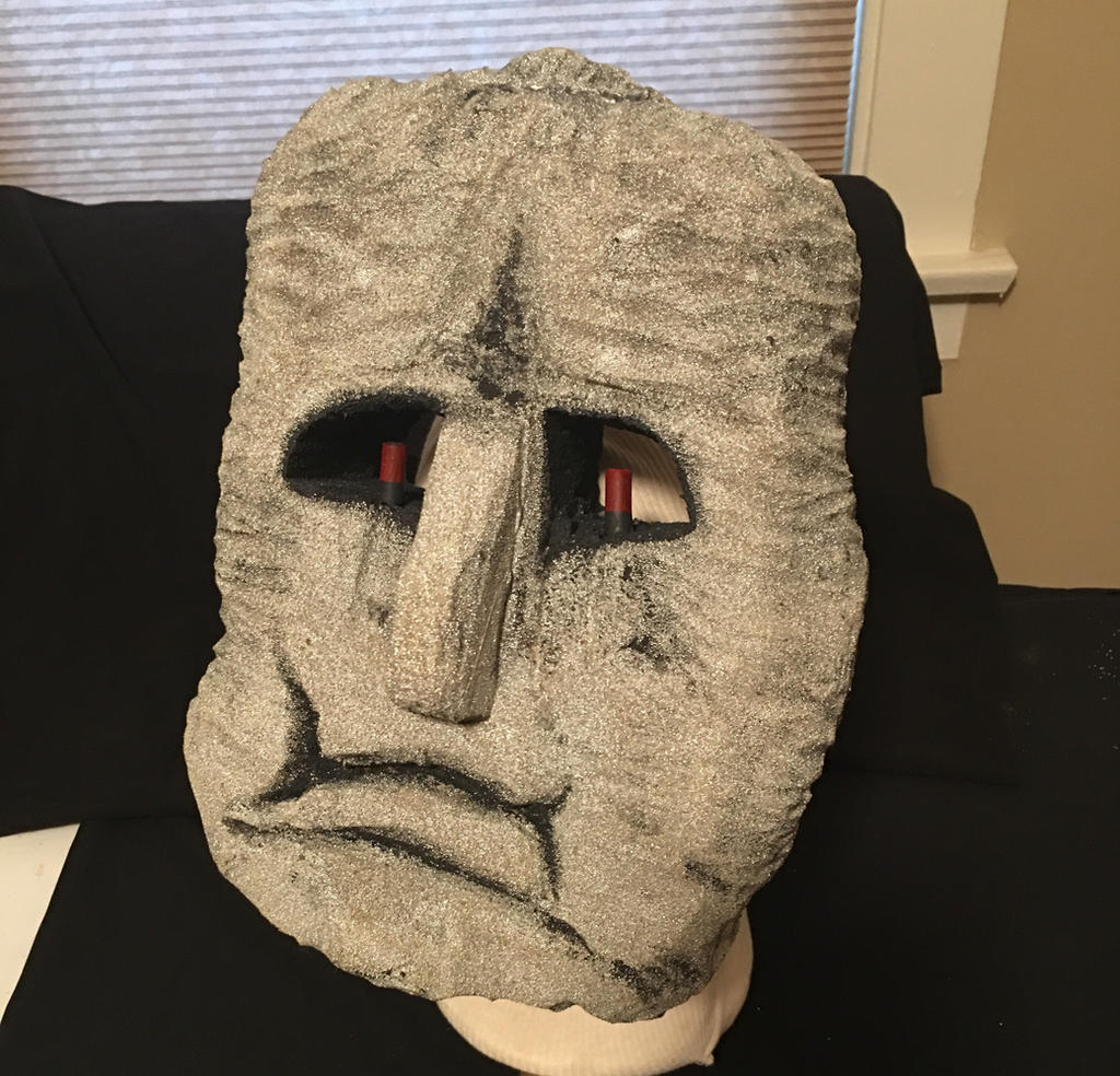 Space Harrier Moai Mask by tacksidermia