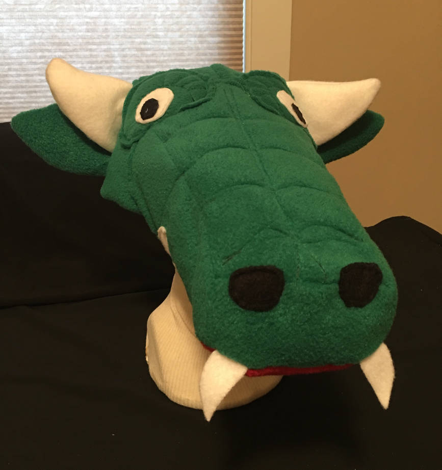 Space Harrier Green Dragon Hat by tacksidermia