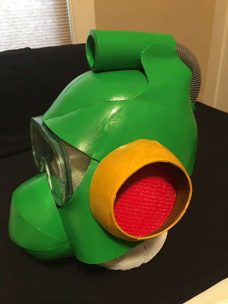 Mega Man 2 Bubble Man Helmet by tacksidermia
