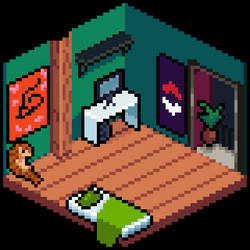 Isometric Geek Room