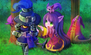 League of Legends:Lulu want to bandaid him