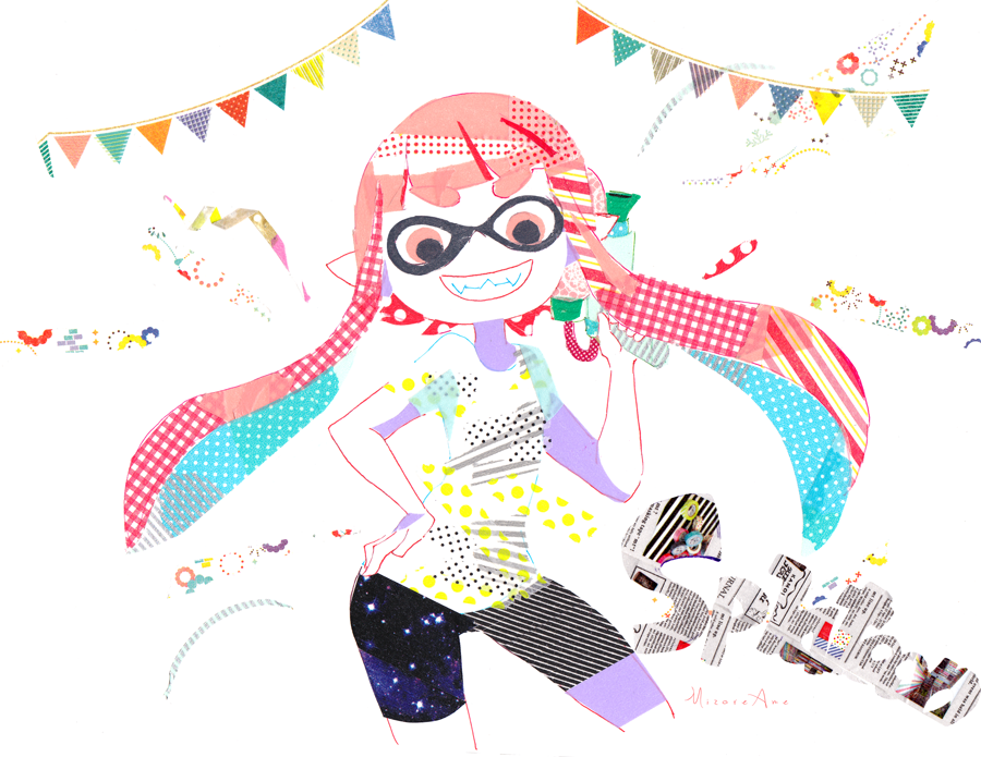 Inkling with maskingtape by MizoreAme