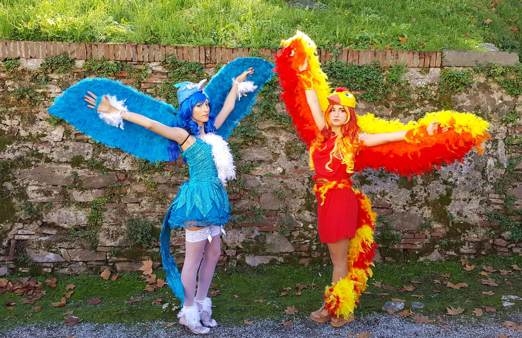 Moltres and Articuno Cosplay by Maspez on DeviantArt: http://maspez.deviantart.com/art/Moltres-and-Articuno-Cosplay-644345142