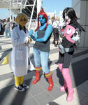 Undyne Alphys and Mettaton Cosplay