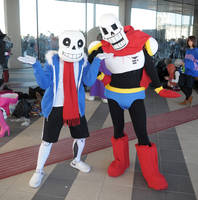 Sans and Papyrus Cosplay by Maspez