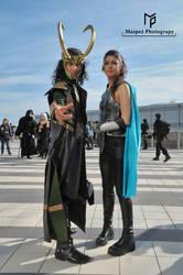 Loki and Valkyrie Cosplay