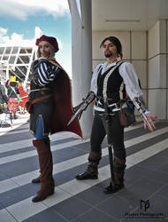 Ezio Auditore and Leonardo Da Vinci Cosplay