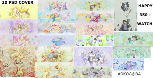 PSD Cover #2: 20 PSD HAPPY 350+ WATCHERS by AVeiii
