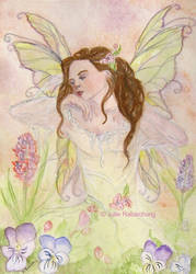 The awakening of the spring fairy by Lorellyne