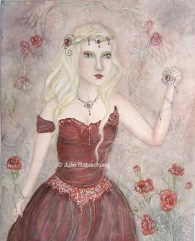 Birthstone princess garnet