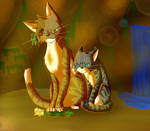 Leafpool and Jaypaw by Hykuraa