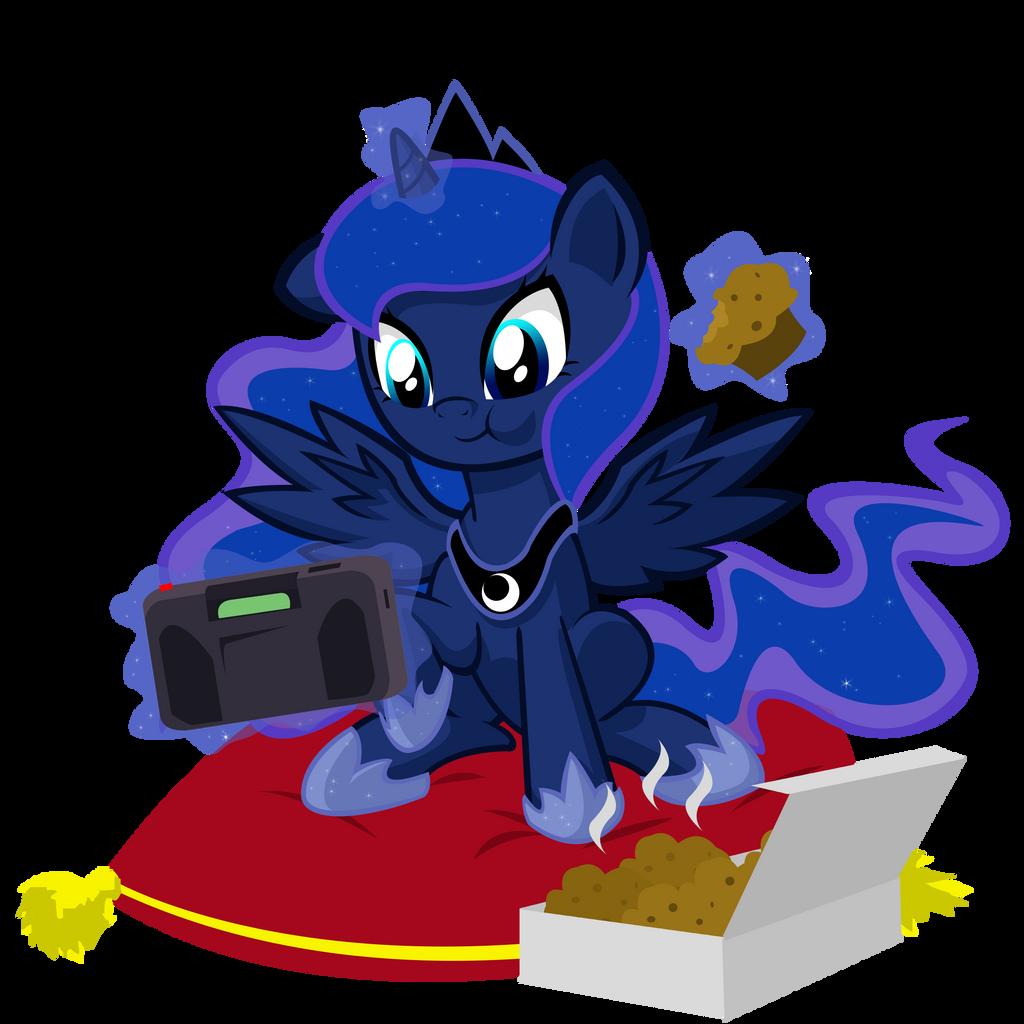 Retro Gamer Filly Luna by DANMAKUMAN on DeviantArt