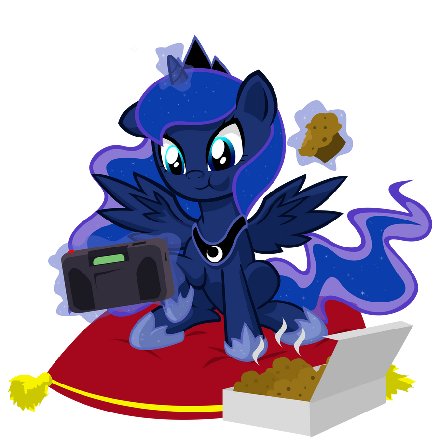 Retro Gamer Filly Luna by DANMAKUMAN