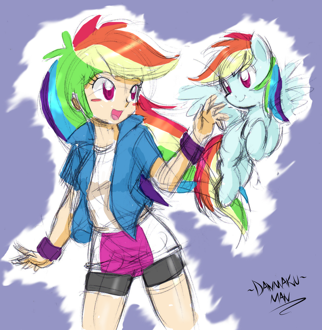 Rainbow Pair by DANMAKUMAN