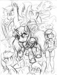 Pony Sketch Dump 4