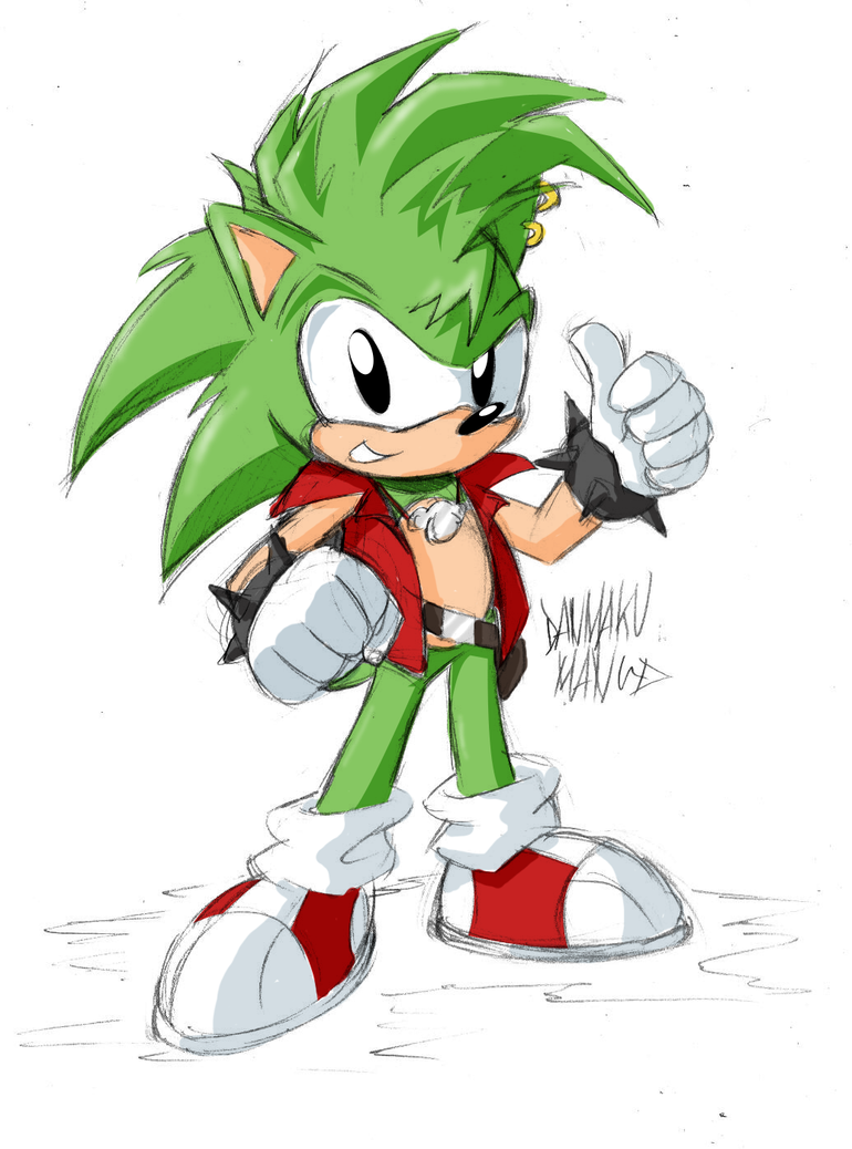 Manic The Hedgehog by DANMAKUMAN on DeviantArt