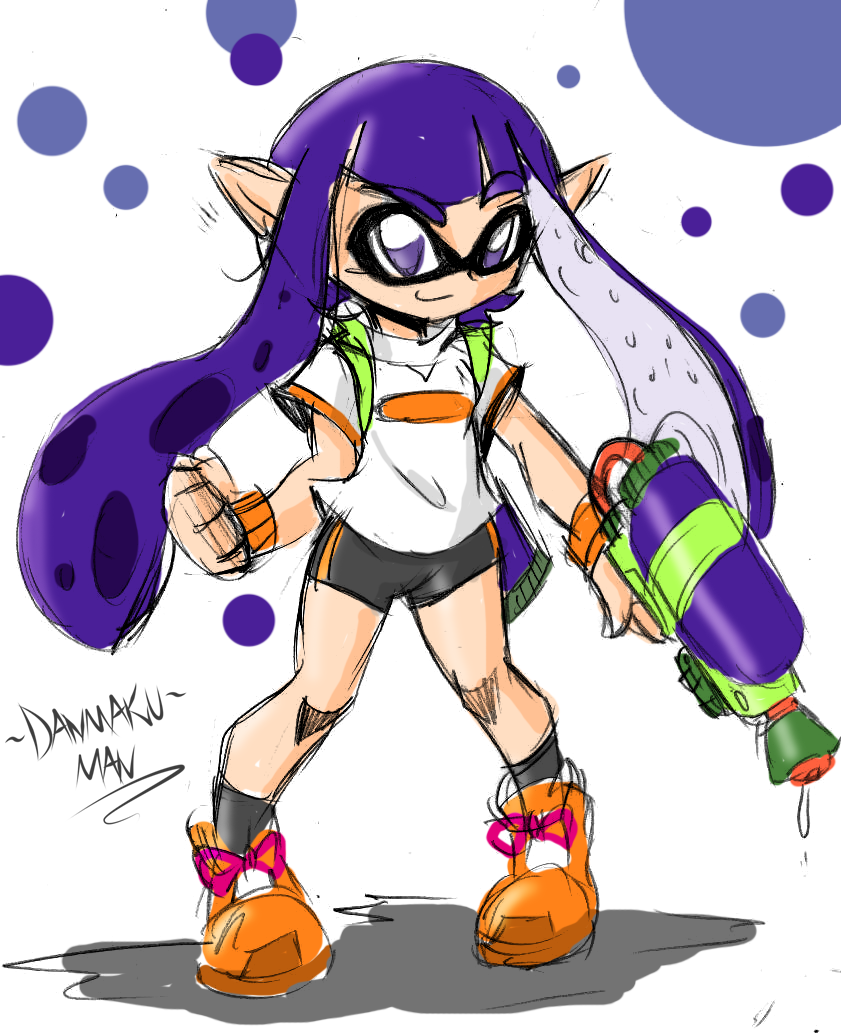 Splatoon Purple Inkling By Danmakuman On Deviantart
