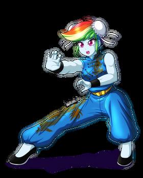 Commission: Rainbow Kung Fu