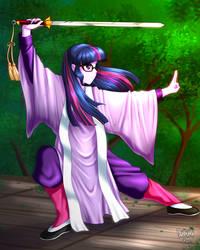 Commission: Sword Practice by DANMAKUMAN