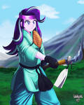 Commission: Glimmer The Warrior by DANMAKUMAN