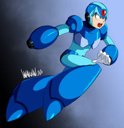 Mega Man X by DANMAKUMAN