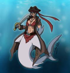 Sharklady (OC) by Beastjager