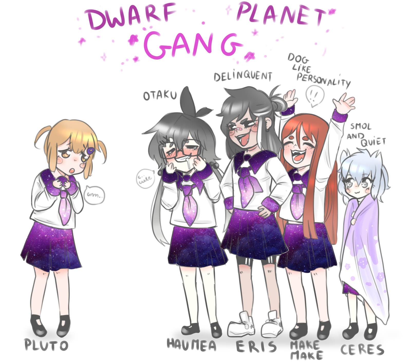 Dwarf Planet Gang by Ovxy on DeviantArt