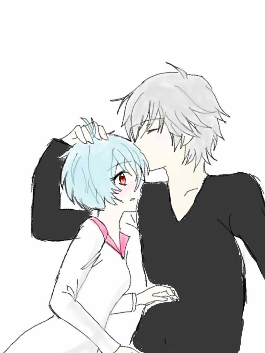 Kaworu and rei by kaworuloverei
